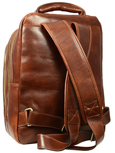 Genuine Leather Backpack,Leather School Backpack, Leather Rucksack - Time Resistance