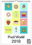 artboxONE Kalender A4 2018 Pixel World Wandkalender A4 Comic, Essen & Trinken