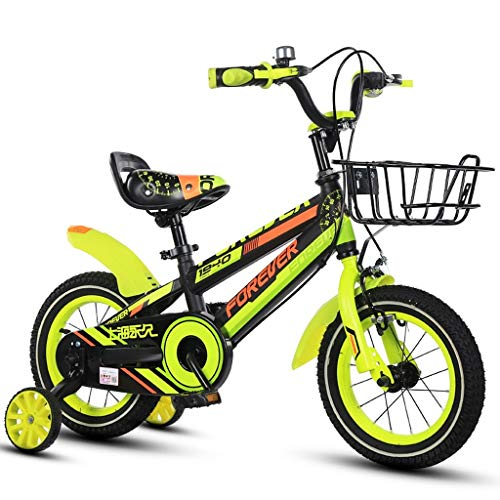 HYCy Children's Bike, Boy Bike, 16 Inch, Suitable for 4-8 Years Old Boy