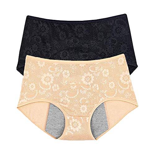 Inkontinenz-Höschen für Damen, auslaufsicher, Größe XXS-4XL/11 (US-Größe 3XL/10, Farbe: Apricot) (Nylon Sicherheits-weste)