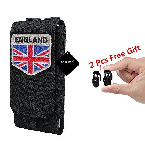 Xhorizon TM FM8 Universal Armee Handytasche Zubehör Beutel Case für iPhone 7 / iPhone 7 Plus Gürteltasche mit Kanada Flagge Taktisch Velcro #F