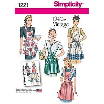 Simplicity 1221 Patron de couture facile pour tabliers de ...