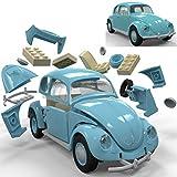 Unbekannt Spielzeug-Auto Volkswagen Beetle aus kompatiblen Bausteinen, 23cm - Kinder Bausatz VW Quick Build Modell Fahrzeug