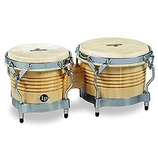LP Latin Percussion Matador Wood Bongo Natural Chrome Hardware M201-AWC