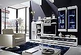 Stella Trading TV-Wohnlösung inklusive LED-Beleuchtung Set 6-teilig, Holz, weiß, 280 x 50 x 194 cm