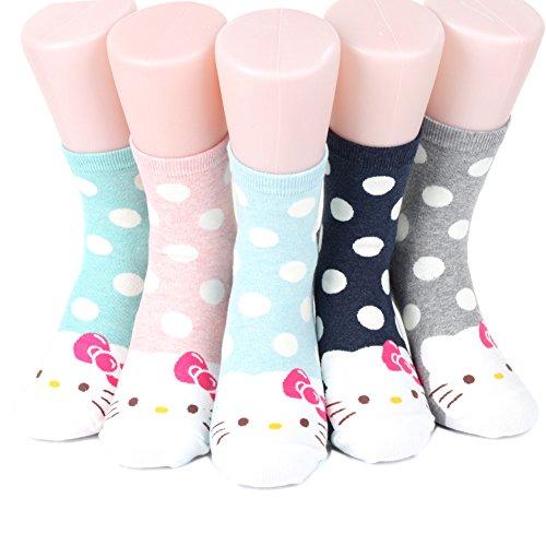 world look Hello Kitty Series Women's Original Socks 5 pairs (5 color) = 1 pack Made in (Hello Kitty Socken)