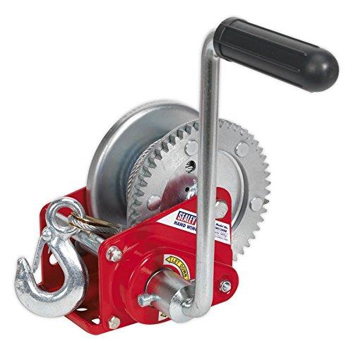 Sealey GWC1200B Seilwinde mit Handgetriebe, mit Bremse und Kabel, 540kg Traglast -
