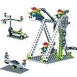 szseven Building Block Set - 3 in 1 Kinderspielplatz Gebäude Spielzeug Kinder Wippe Riesenrad Karussell Manuelle Puzzle Montage Vergnügungspark Serie Kleinkind Geschenke Lernspielzeug für Kinder Baby