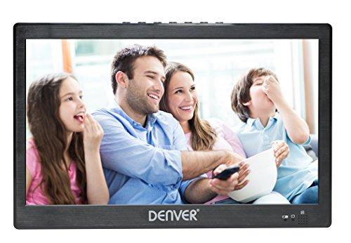 Denver LED-1031 tragbarer 25,6 cm (10,1 Zoll) LED-Fernseher mit integriertem digital TV-Tuner, Schwarz