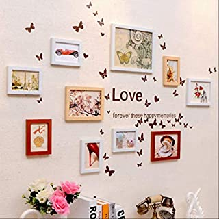YKDDII Cadres Photo 10 Pcs/Set Cadre Simple pour Mur Photo Set Décor À La Maison Cadres Photo Combinaison Moderne Style Cadre Cadre Set Mode Classique Multi-Fonction Cadre Photo   huyuanbai yijia