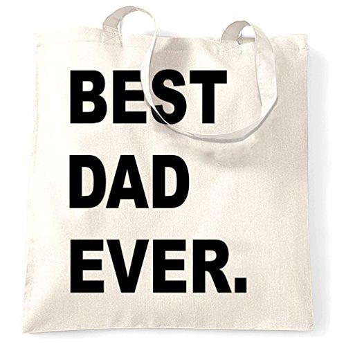 Best Dad mai, Compleanno Neonato padre il giorno di Natale della novità Bambino Sacchetto Di Tote White