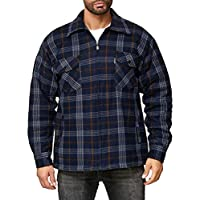Men's Thermo Shirt Jacket Lumberjack Chequered, Colour:Blue, Size:XL
