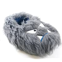 SlumberzzZ Boys Monster Design Slipper with Elasticated Heel FT0806 9-10 Grey