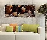 Holzbild 100x40cm Essen Ei Eier Frühstück Küche Abend Druck auf Holz Holzbilder Vintage Bild UV Foto Wandbild Wandbilder W0454, Holz Gr 1:100x40 cm