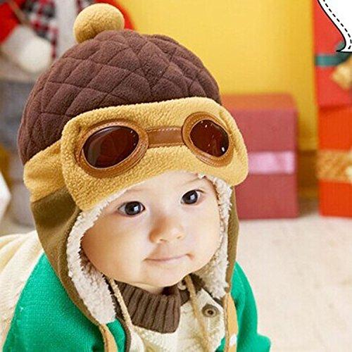 ChildHat 2018 Hut für Kinder,Lei Feng hat eine warme Brille mit Einer Mütze für Männer und Frauen sowie einen samtigen warmen Lei Feng-Pilot, ()