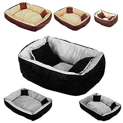 Beauty Pet ® Panier, lit avec coussin pour chien et