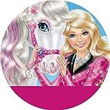 Tortenaufleger Barbie4 mit Wunschtext / 20 cm Ø