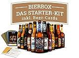 Craft Beer Starter-Kit mit deutschen Craft Bieren und Bierkarten - IPA, Weissbier, Pils, Porter, Pale Ale, Helles