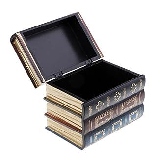 D DOLITY Antique Vintage Book Design Jewelry Bracelet Storage Box Case Home Decor S