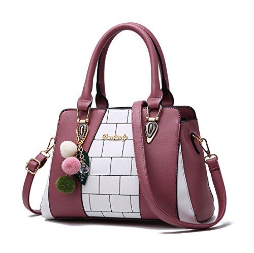 Maibaoma Pu Niedlich Damen Handtaschen, Hobo-Bags, Schultertaschen, Beutel, Beuteltaschen, Trend-Bags, Velours, Veloursleder, Wildleder, Tasche Pink 1
