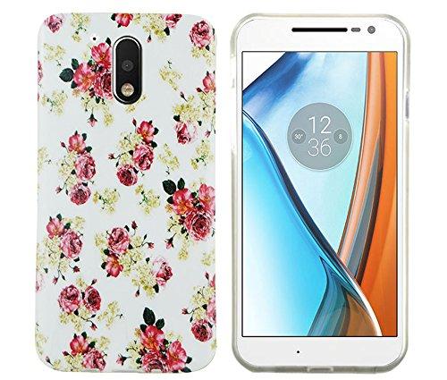 Motorola / Lenovo moto G4 Schutzhülle Case Cover Hülle aus festem Silikon (TPU) als perfekter Schutz (Blumen) (Klassische Texas-flagge)