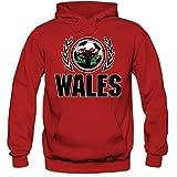 Wales WM 2018#2 Hoodie | Fußball | Herren | The Dragons | Trikot | Nationalmannschaft, Farbe:Rot (Red F421);Größe:S