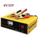 Chargeur De Batterie 6V 12V, Booster Batterie Voiture éConomie D'éNergie Universelle Intelligente EntièRement Automatique, Convient à La Voiture/Au SUV/VTT/Moto/Bateau,Yellow
