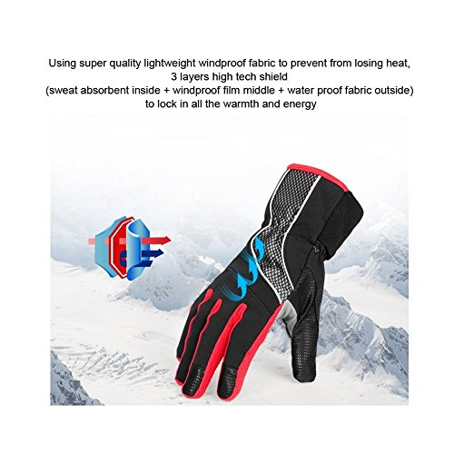 4Ucycling Warm Thermo Fleece Gloves Touchscreen Touch Fahrrad Handschuhe Radsport Handschuh Radhandschuhe - 3