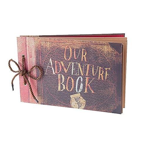 Notre aventure livre Album photo scrapbooking, extensible, 29,5x 19,1cm, 80pages