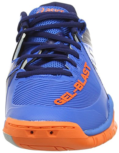 Asics Gel-blast 6, Chaussures de Handball Homme Bleu (Electric Blue/Silver/Hot Orange 3993)