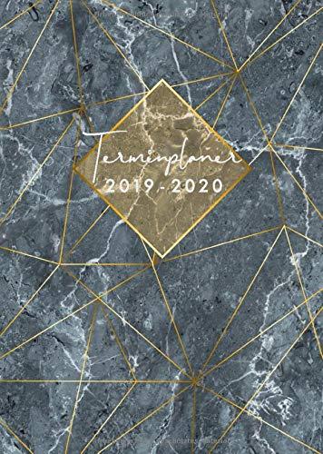 Terminplaner 2019 2020: Din A5 Terminplaner 2019/2020 für die Arbeit oder um Deinen Alltag zu organisieren   18 Monate: Juli 2019 bis Dez.   Business-Timer   Marmor-Design