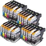 20x Druckerpatronen Komp. für Brother LC223xl LC-223 LC 223 LC225 LC227 XL für Brother MFC-J4420DW MFC-J4620DW MFC-J4625DW MFC-J5320DW MFC-J5620DW MFC-J5720DW