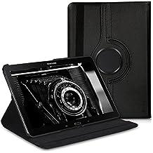 kwmobile Funda para Samsung Galaxy Note 10.1 (2014) - Case de 360 grados de cuero sintético para tablet - Smart Cover completo y plegable para tableta en negro