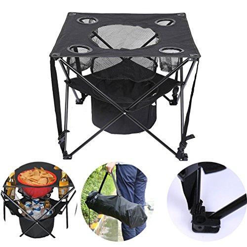 Holifine® Tavolo da picnic pieghevole per barbecue all'aperto, Panno di Oxford e alluminio