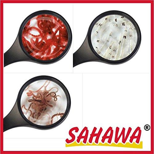 SAHAWA Lebendfutter Fische: 10 Beutel 45 ml =4x roteMückenlarve + 4x weiße Mückenlarven+2x Tubifex -
