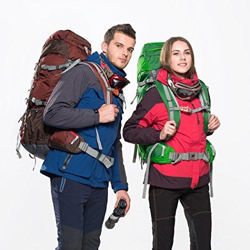 Imagen de mountaintop 60l  de senderismo impermeable multifunciona backpack / trekking bolsa de mochilero / escalada  /  de camping /  de viaje para el alpinismo con cubierta de la lluvia 651ii 76 x 36 x 26 cm alternativa
