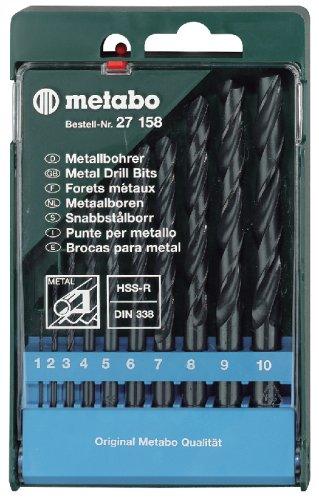Metabo 627158000 HSS-R-Bohrerkassette 10-teilig