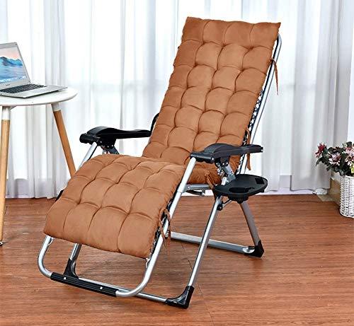 DQCHAIR Terrassenliege Liegestuhl im Garten & im Freien Klappbarer Schwerelosigkeitsstuhl mit Wattepad Tragbare Liegestühle für Rasenflächen mit einem Gewicht von 200 kg (Farbe : Braun)