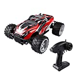 SainSmart Jr. RC Buggy Fernbedienung RC Auto 1:16 Maßstab 30 PHM 2.4Ghz Radio 4WD Off Road Monster Truck, Rot