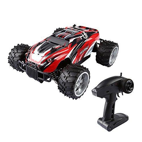 SainSmart Jr. 1:16 RC Monster Truck RC Truggy Geländewagen RC Auto 2.4GHZ 2WD Schnelle Geschwindigkeit Racing Truggy ferngesteuerte Auto Super Offroader (Motor Racing Kostüm Für Kinder)