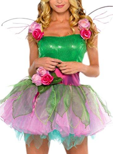 Imagen de erdbeerloft conjunto de disfraz de ninfa para mujer, varias tallas, color verde alternativa
