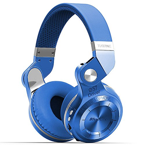 Bluedio T2+ cuffie bluetooth senza fili con microfono per cellulari–blu