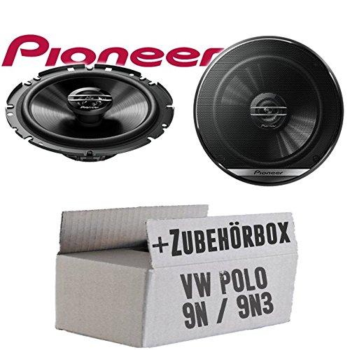 VW Polo 9N 9N3 Front - Lautsprecher Boxen Pioneer TS-G1720F - 16cm 2-Wege Koax Koaxiallautsprecher Auto Einbausatz - Einbauset