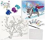 alles-meine.de GmbH Bastelset Zum Malen - Leinwand / Canvas Bild -  Disney die Eiskönigin - Froze..