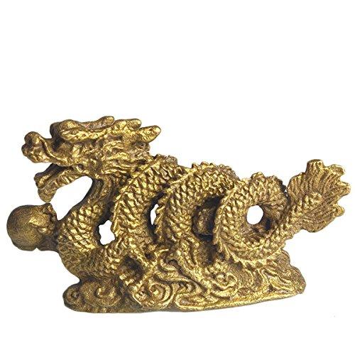 Zoom IMG-1 brass statu mini millennium dragon