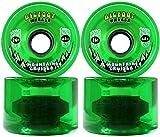 Bigfoot Longboard Rollen 76mm 80A SHR Mountain Cruiser grün transparent