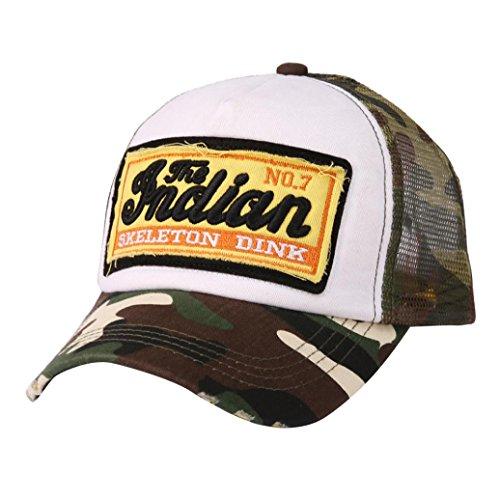 ABsolute Sonnenhut Snapback,Unisex Basecap Stickerei Kappe Junge Mädchen Flachdach Baseballkappe Cap Einstellbare Sportmütze Hip Hop Hut Mütze (Tarnung)