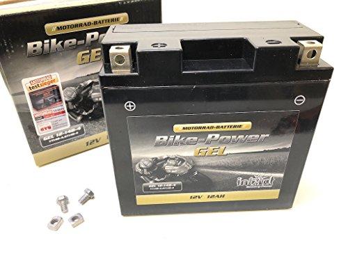 12V 12 Ah Gel Power Batterie Akku YT14B-4 (150 x 69 x 145 mm) für Motorrad