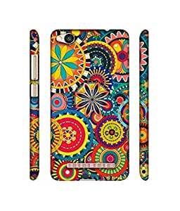 Rabotac Ring Pattern Print Design 3D Printed Hard Back Case Cover for Xiaomi Redmi 4A