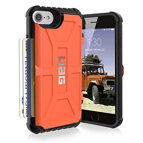 Urban Armor Gear UAG iPhone 7 [4.7-inch screen] Trooper Card Case [RUST] Military Drop Tested iPhone Case